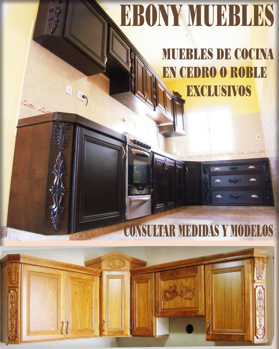 Mesada Y Alacena En Cedro Por Metro 9 500 00 En Mercado Libre ~ Muebles De Cocina Precios Por Metro Lineal